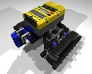 MLCad drawing and final render of mindstorms bot