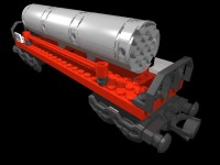 MLCad drawing and render of train